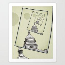 Political Spin Art Print