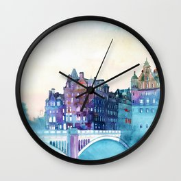 Winter in Edinburgh Wall Clock