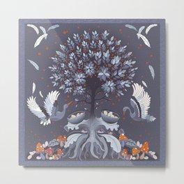 Purple nest tree Metal Print