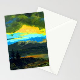 Frederic Edwin Church Sunset Across the Hudson Valley Stationery Cards
