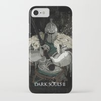 dark souls iPhone & iPod Cases featuring Dark Souls 2 Knight Splatter by 666HUGHES