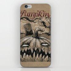Pumpkin (Drawlloween 1/31) iPhone & iPod Skin