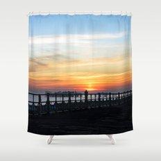Quiet sunset Shower Curtain