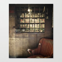 FADED MEDICINE SHOP Canvas Print