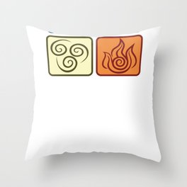 Louies Avatar Symbols Throw Pillow