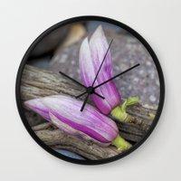 magnolia Wall Clocks featuring Magnolia by LebensART Photography