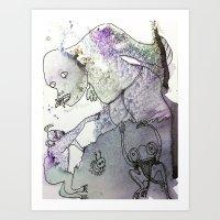 butterfly eater Art Print