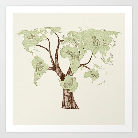 Planet Earth (Fauna) Art Print