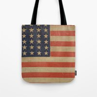 flag Tote Bags featuring Flag by ART SHOP