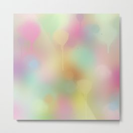 Soft pastel watercolour abstract Metal Print