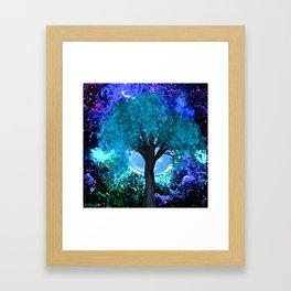 TREE MOON NEBULA DREAM Framed Art Print