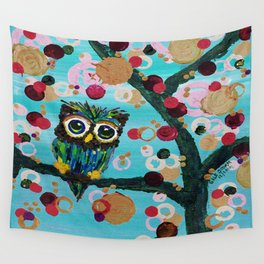 :: Gemmy Owl Loves Jewel Trees :: Wall Tapestry