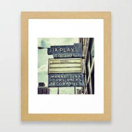 Retail Doctor Framed Art Print
