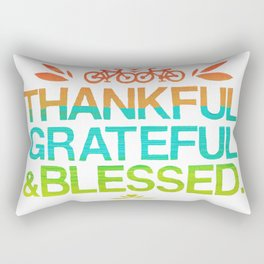 Thankful, Grateful & Blessed 2 Rectangular Pillow