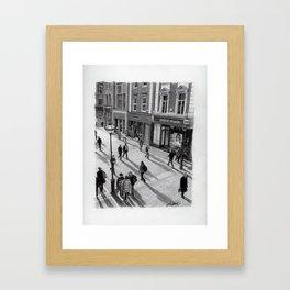 Grafton Street - Pencil Drawing Framed Art Print