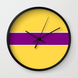 just two colors 11: orange and purple Wall Clock