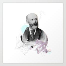 Nameless man Art Print