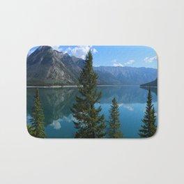 Beautiful Lake Minnewanka Bath Mat