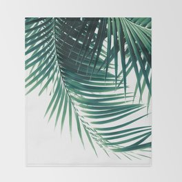 Palm Leaves Green Vibes #4 #tropical #decor #art #society6 Throw Blanket