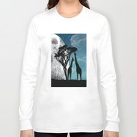 african Long Sleeve T-shirts featuring African Nights by Bakmann Art