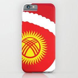 Kyrgyzstan Christmas sant claus flag designs  iPhone Case