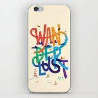 wanderlust iPhone & iPod Skins featuring Wanderlust by Wharton