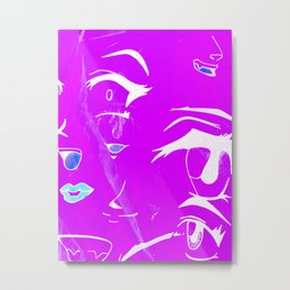 Eyes, mouth and nose Metal Print
