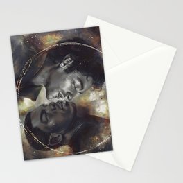 Golden Galaxy Stationery Cards