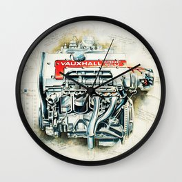 RETRO CUTAWAY ENGINE - ORIGINAL ARTWORK Wall Clock