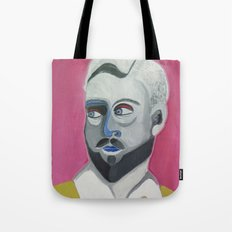 Man with pink background Tote Bag