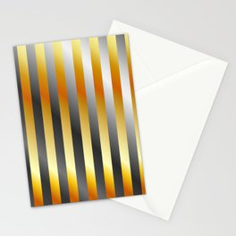 Illustration of a meta steel and gold Stationery Cards