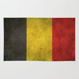 Old and Worn Distressed Vintage Flag of Belgium Rug