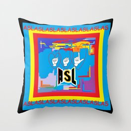 I Open Heart ASL Throw Pillow