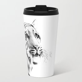 Tiger Black & White #1 #decor #art #society6 Travel Mug