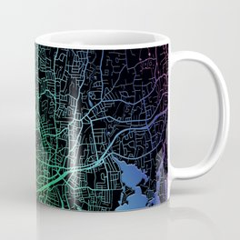 Stamford, CT, USA, Rainbow, City, Map Coffee Mug