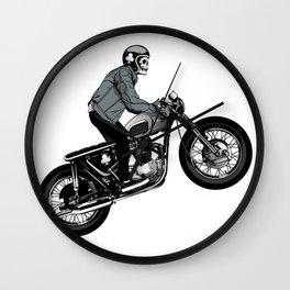 biker skeleton Wall Clock