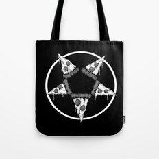 Pizzagram (Monochrome) Tote Bag