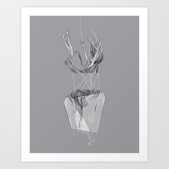 Attached Art Print