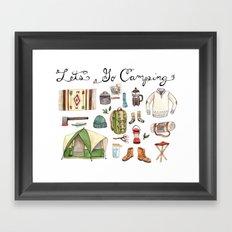 Let's Go Camping Framed Art Print