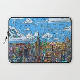new york city skyline colorful Laptop Sleeve