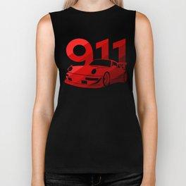 Porsche 911 - classic red - Biker Tank