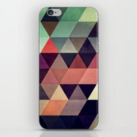 green iPhone & iPod Skins featuring tryypyzoyd by Spires