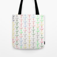 anchors Tote Bags featuring Anchors by Maressa Andrioli