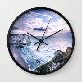 Natural Rock Arch -  ocean, coastal cliffs, waves, clouds, Wall Clock