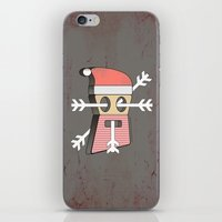 merry christmas iPhone & iPod Skins featuring Merry christmas by AmDuf