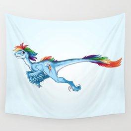 Raptor Rainbow Dash Wall Tapestry