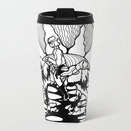 Cowboy Sunset Metal Travel Mug