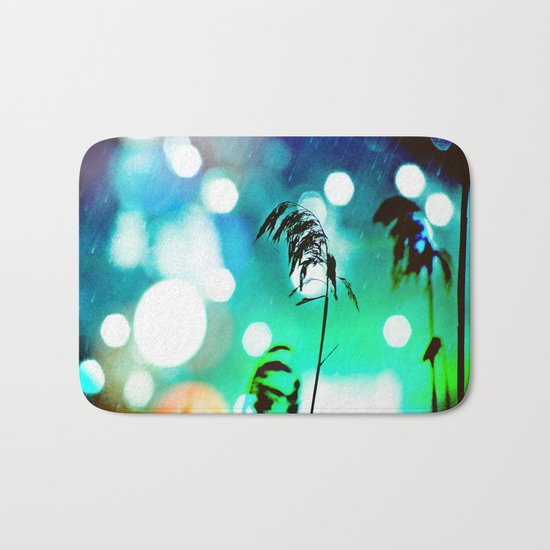 Blue Grass Drama Sparkle Bath Mat