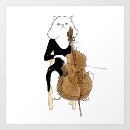 1006 Cello Cat Art Print