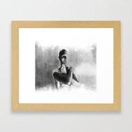 Tears, in rain Framed Art Print